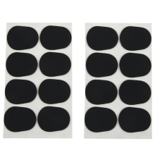 16 шт альт/тенор саксофон кларнет накладки для мундштука колодки подушки, 0,8 мм черный, 16 упаковка