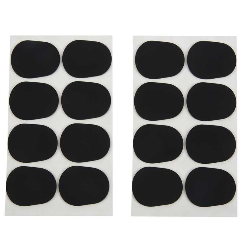 16pcs Alto/tenor Sax Clarinet Mouthpiece Patches Pads Cushions,0.8 มม.สีดำ,16 แพ็ค
