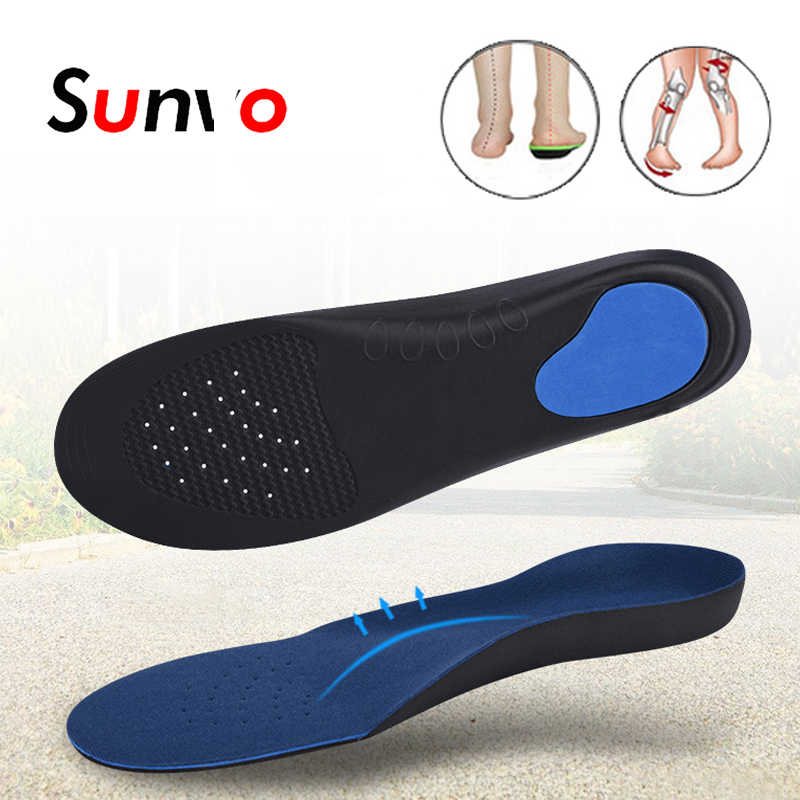 Sunvo EVA Orthopedic Insoles for Men Women Flat Foot Arch Support Flatfoot Orthotics Shoes Pads Sport Sole Health Care Insole