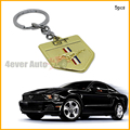 (5) Golden Chrome Finish Pony Horse Key Chain Fob Ring Keychain For Mustang GT 500 Cobra