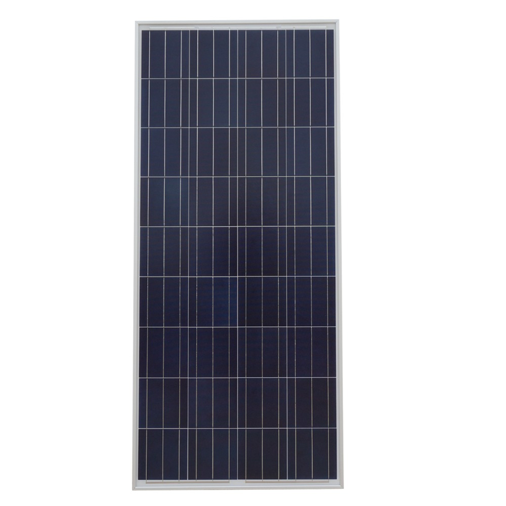 ECO-WORTHY 150W Polycrystalline Photovoltaic PV Solar Panel Module 12V off Grid Battery Charging for Boat Yacht Household RV eco sources 150w 12v rv mono solar panel monocrystalline solar panel for home solar system12v battery off grid