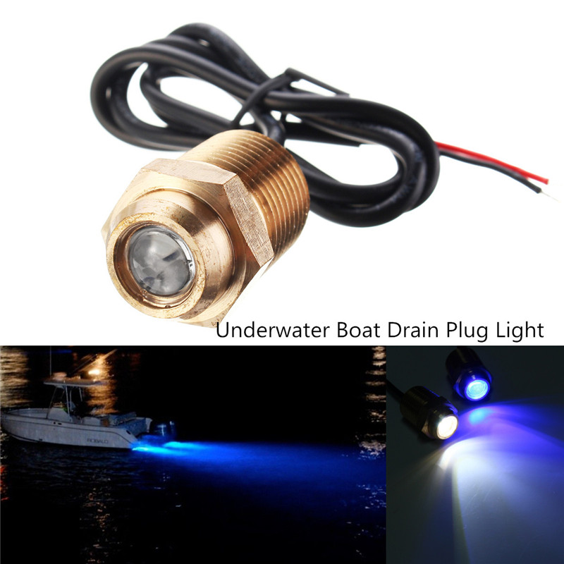 Led Lamps Honest Waterproof Underwater Light 1/2 Inch 14 Npt 2835 Smd Led Pantoon Boat Drain Plug Light White/blue Dc 12v