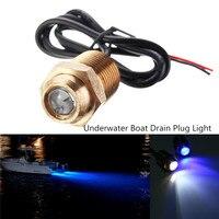 Waterproof Underwater Light 1 2 Inch 14 NPT 2835 SMD LED Pantoon Boat Drain Plug Light