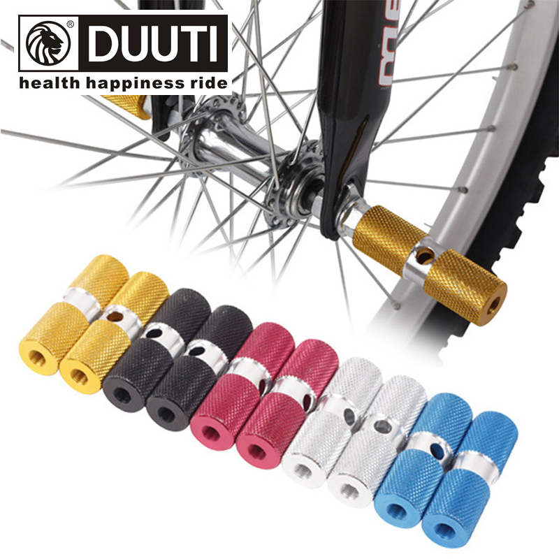 DUUTI Bicycle Pedal Aluminum Alloy BMX Mountain Road Bike Bicycle Rear Axles Pedal Stunt Foot Peg Bicycle Parts