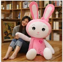 WYZHY Cute Long Ears Rabbit Plush Toy Scarf Love Pillow Child Holding Sleeping Female Birthday Gift  120CM