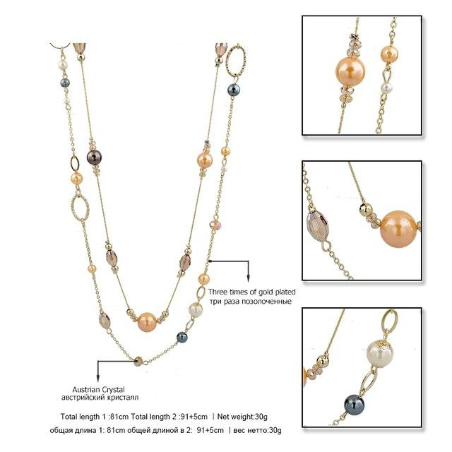 Chicvie Длинные ожерелья и подвески из натурального камня для