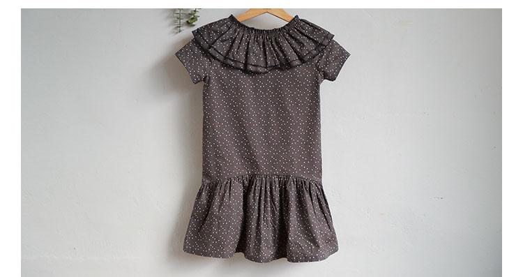 new fashion 2017 girl dress ruffles preppy style kids dresses for girls children school clothing dot short sleeve children dresses girls 2017 summer dresses kids clothes (6)