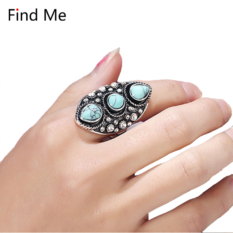 Find Me 2018 brand Gypsy Vintage Lucky Beach boho Punk Rings Unique Carved Antique Totem joint rings for women Jewelry wholesale