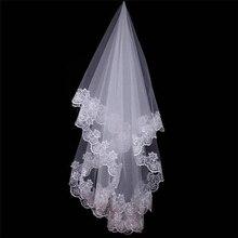 Для женщин 150 см один Слои прямоугольная скатерть с цветами вуаль цвета слоновой кости Длинные свадебные Viel свадьбы и торжества; Свадебные украшения для волос; повязка на голову в подарок R40