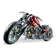Decool Model building kits compatible with lego city Harley-Davidson 1009 3D blocks Educational toys hobbies for children