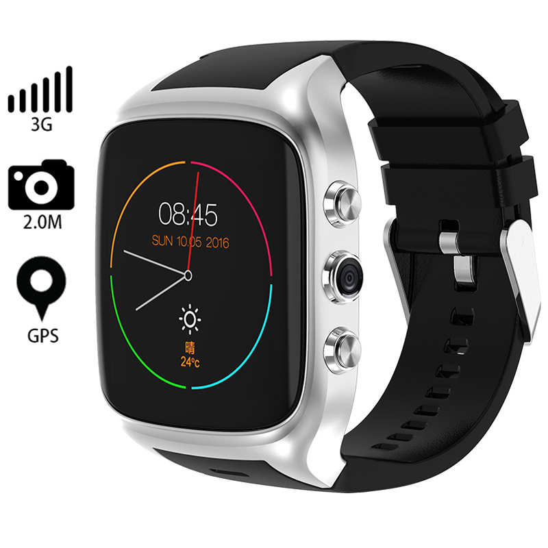 Smart Watch Men Bluetooth Wristwatch X02S MTK6580 Android 5.1 OS GPS Wifi 3G SIM Card 2.0 MP Camera Waterproof Smartwatch lemfo les1 android 5 1 os smart watch phone mtk6580 1gb 16gb smartwatch support 3g wifi gps sim card with 2 0 mp camera
