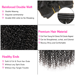 Image 3 - ALI GRACE brezilyalı Kinky kıvırcık saç kapatma ile 3 demetleri ile 4*4 dantel kapatma ücretsiz orta kısmı 100% remy saç kapatma