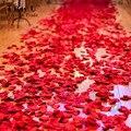 1000 Petalos Corredor Del Pasillo de La Boda de Seda de Flores Artificiales Flores de La Boda Descalzo Sandalls Decoraciones de La Boda de Encaje Blanco