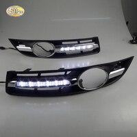 Luz Corriente Diurna para VW Volkswagen Passat B6 SNCN 2007 2008 2009 2010 2011 LED DRL niebla cubierta de la lámpara de conducción luz