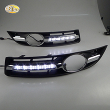 SNCN Daytime Running Light for VW Volkswagen Passat B6 2007 2008 2009 2010 2011 LED DRL fog lamp cover driving light