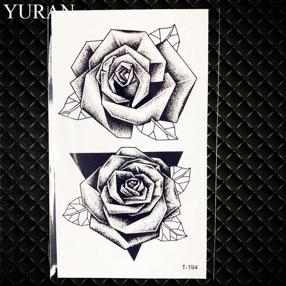 Flor De Henna Rosa Tatuaje Temporal Geometrico Lapiz Boceto Chica