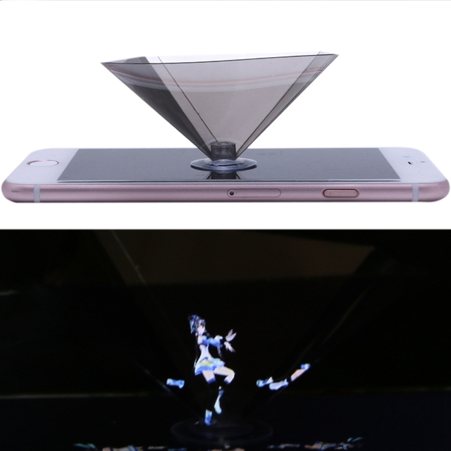 New 3D Holographic Projector Pyramid Display With Sucker For 3.5-6Inch Smartphone 3