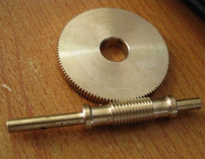 0.4 M-120 T rapport de vitesse de l'engrenage à vis sans fin 1:120 -- diamètre de l'engrenage: 48.7mm trou: 12mm épaisseur: 6mm