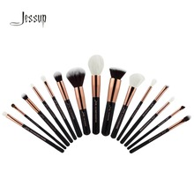 2017 jessup brushe 15Pcs/Set Professional Makeup Brushes Set Makeup Brush Tools kit Foundation Powder Definer Shader Liner T160