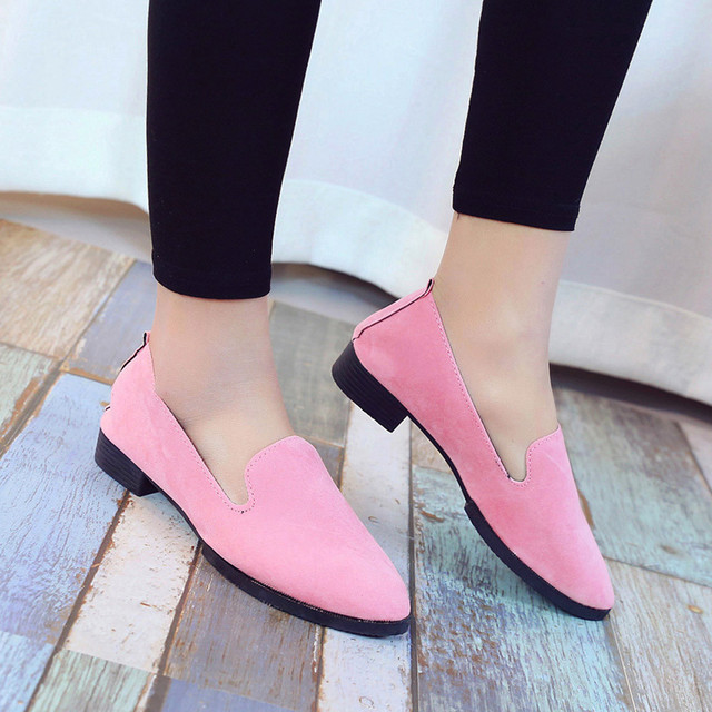 2019 Spring Women Loafers Flats Shoe Women Casual Shoes Suede Slip on Boat shoes Female Shoe Comfortable Ballet Flats Size 35-40 4