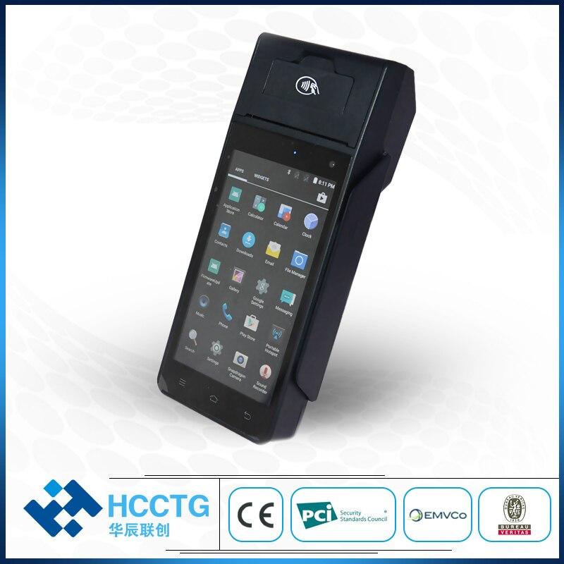 Hccz90 4g Wifi Gprs Bluetooth Nfc Rfid Chip Magnetische Kaartlezer Met Printer Barcode Scanner Smart Emv Android Pos Terminal