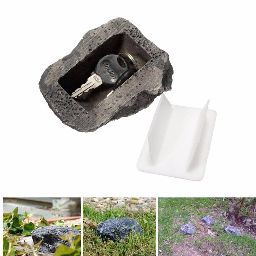 Outdoor Garden Key Box Rock Hidden Hide In Stone Security Safe Storage Hiding