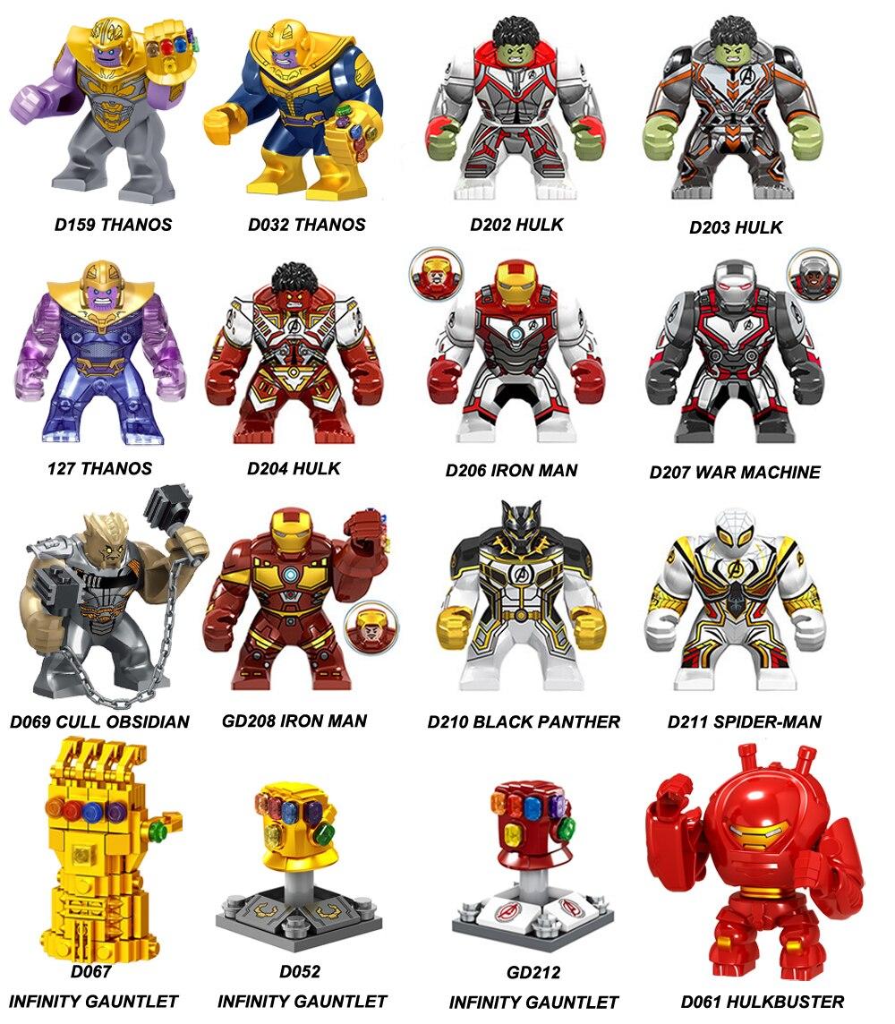 Marvel Thanos Cull Obsidian Super Heroes AvengersBuilding Blocks Kids Toy Figures