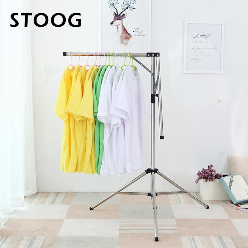 Clothes Hanger Telescopic Garmentrack Stainless Steel Home Decor Rack Clothingorganizer Clothing
