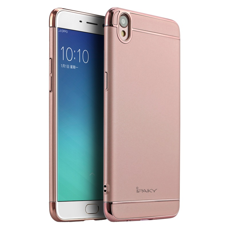 IPAKY Cover for Oppo F1 Plus Cover Plating Hard Shell Mobile Phone Case for Oppo R9 Case Brand Shell High Quality Bag