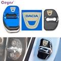 Аксессуары Ceyes крышка замка автомобильной двери, автомобильный Стайлинг, чехол для Dacia Sandero MK2 Stepway для Renault, наклейка с пряжкой из нержавеющей...