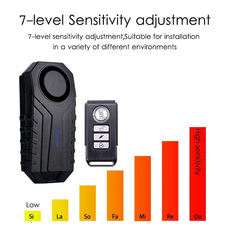 Image 3 - Marlboze Waterproof Remote Control Bike Motorcycle Electric Car Vehicle Security Anti Lost Remind Vibration Warning Alarm Sensor-in Alarm System Kits from Security & Protection