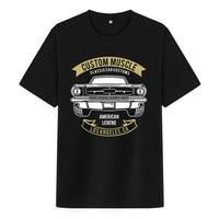 Bloodhoof Custom Muscle Locomotive printing black cotton men t shirts hip hop unisex tops tee