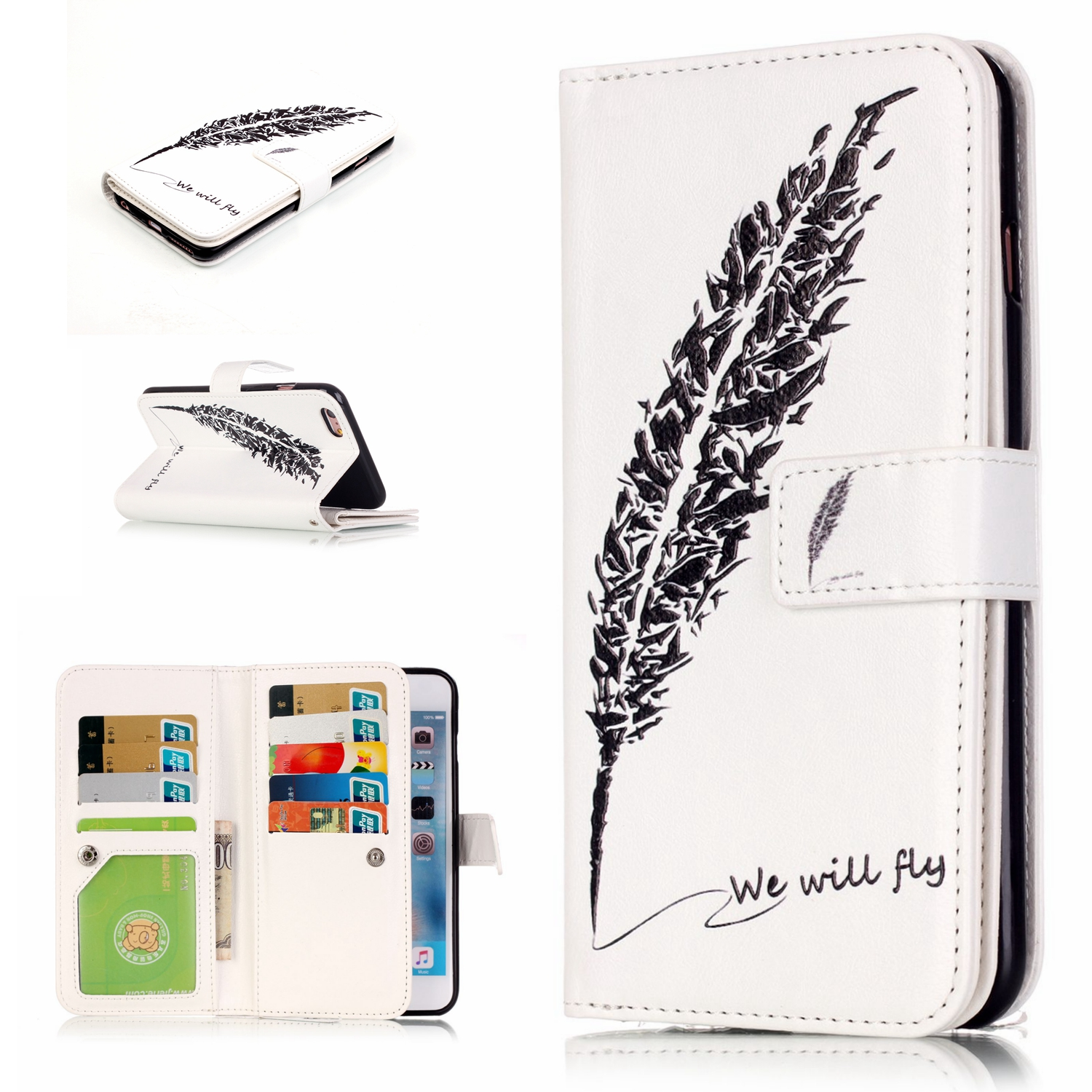 9 Card Holder Wallet Case For Samsung Galaxy Grand Duos I9082 Luxury PU Leather Flip Case for Samsung Grand Neo I9060 Coque Etui