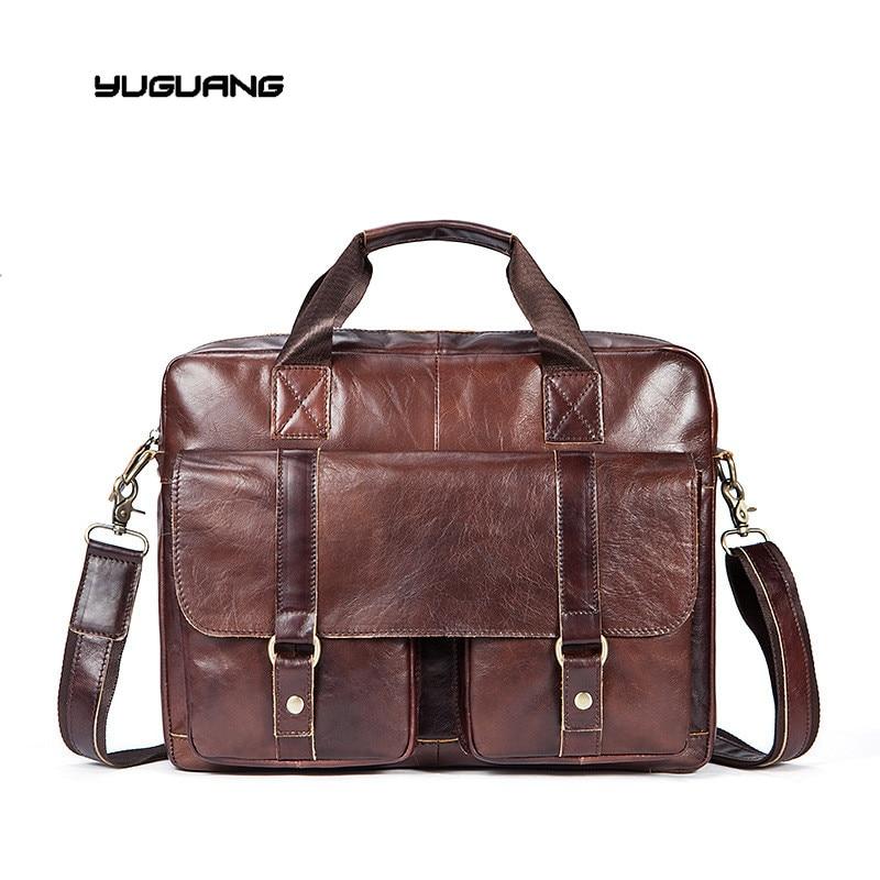 2017 new font b leather b font bag fashion leisure men Business Bag font b Handbag