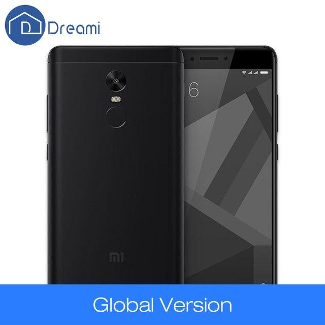 Dreami Глобальный Версия Xiaomi Redmi Note 4 Snapdragon 625 Octa Core 3 ГБ RAM 32 ГБ ROM CE FCC Мобильный Телефон 4100 мАч Примечание Мобильного Телефона