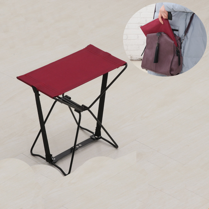 Outdoor Lightweight Portable Folding Fishing Chair Camping Oxford Cloth Foldable Picnic Fishing Chair With Storage Chair