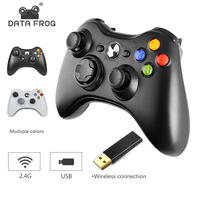 Беспроводной контроллер Data Frog 2,4G для Xbox 360 джойстик для microsoft PC Windows 7 8 10 геймпад для телефона Android