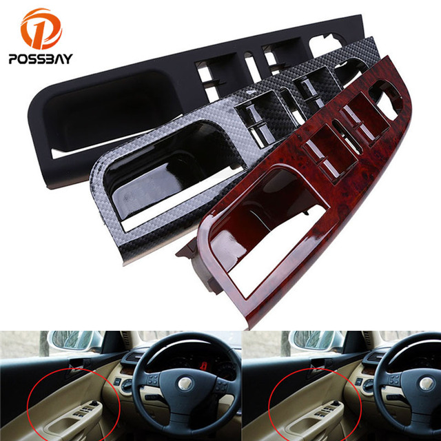 POSSBAY Auto Car Interior Door Parts for VW Golf 5 Master Door Window Switch Control Panel Trim Bezel 1K4868049C Car Styling
