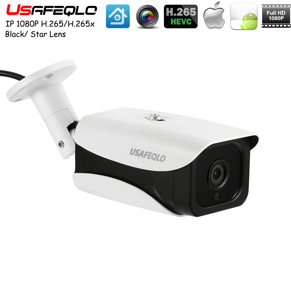 Usafeqlo 1080P POE Mini Starlight Level IP Camera H 265 H 265 2 0MP Sony IMX307
