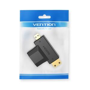 Image 5 - Адаптер Vention Mini HDMI / Micro HDMI в HDMI, конвертер 2 в 1 3D 1080P «Папа мама» для ТВ монитора, проектора камеры