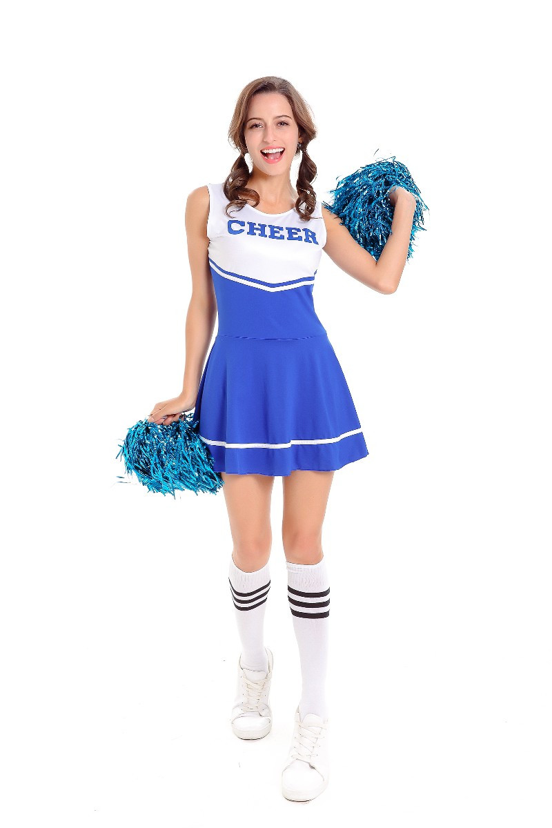 Hot Sale Blue Sexy High School Cheerleader Costume Cheer Girls Uniform Party Cheerleading Fancy Dress-in Sexy Costumes from Novelty u0026 Special Use on ...  sc 1 st  AliExpress.com & Hot Sale Blue Sexy High School Cheerleader Costume Cheer Girls ...