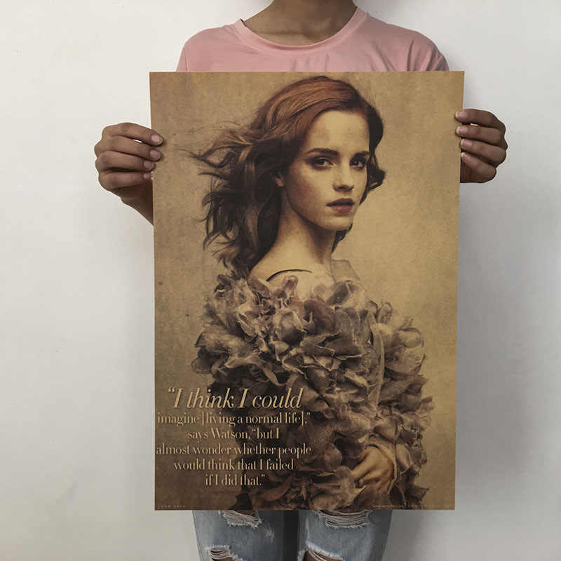 1PC Emma Watson /classic Movie Film Poster/kraft Paper/Retro BAR Poster/decorative Painting Beauty Star Poster