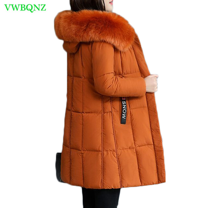 Winter Cotton Jacket Korean Women   Parkas   Thick Warm Coat Big fur collar Hoodies Top Slim Pink Female Down cotton   Parkas   A864