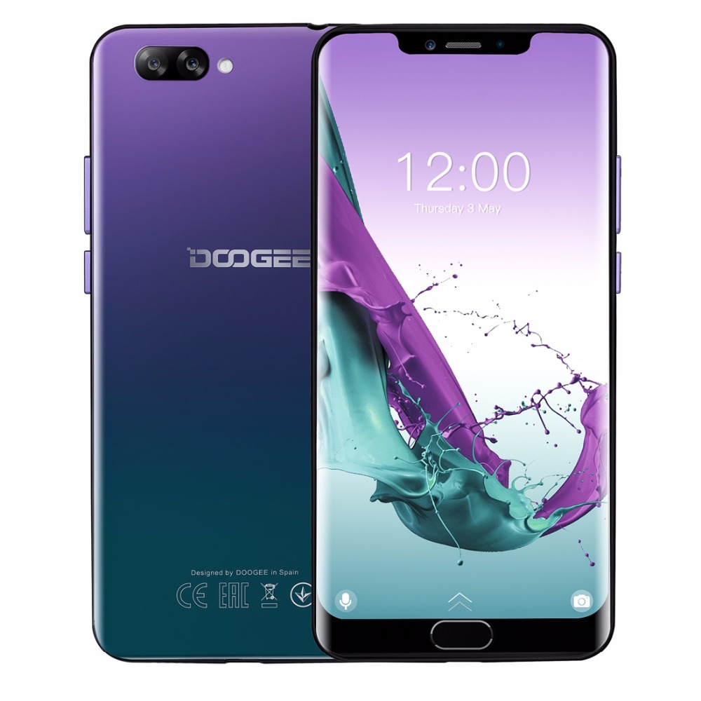 DOOGEE Y7 Plus Cellphone 6.18 inch 1080*2246 Screen MTK6757 Octa-Core 2.5GHz 6GB RAM 64GB ROM 16.0MP+13.0MP 5080mAh Android 8.1