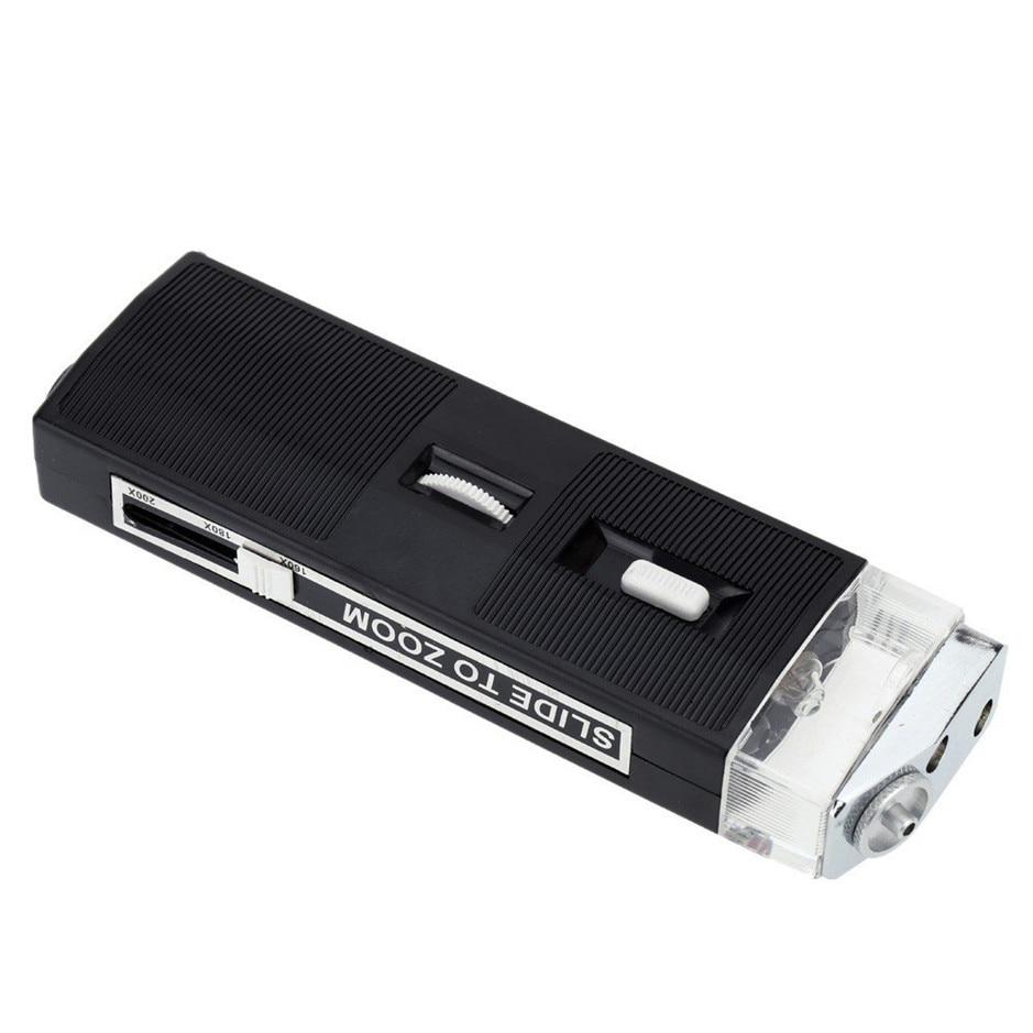 Fiber Optic 200X Microscope  Optic Viewing Scope Kit Light Magnifier  8PK-MA009
