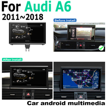 Car Android original style For Audi A6 4G 2011~2018 MMI GPS Navigation radio stereo multimedia player DSP HD touch screen