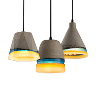 Modern Creative Cement Pendant Light Colorful Resin Concret Pendant Lamp Hanging Indoor Drop Light Personality Pendant