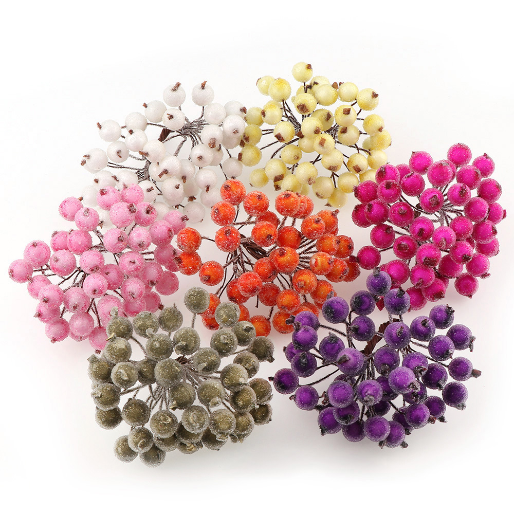 20Pcs/lot Mini Fake Fruit Small Berries Artificial Flower cherry ...