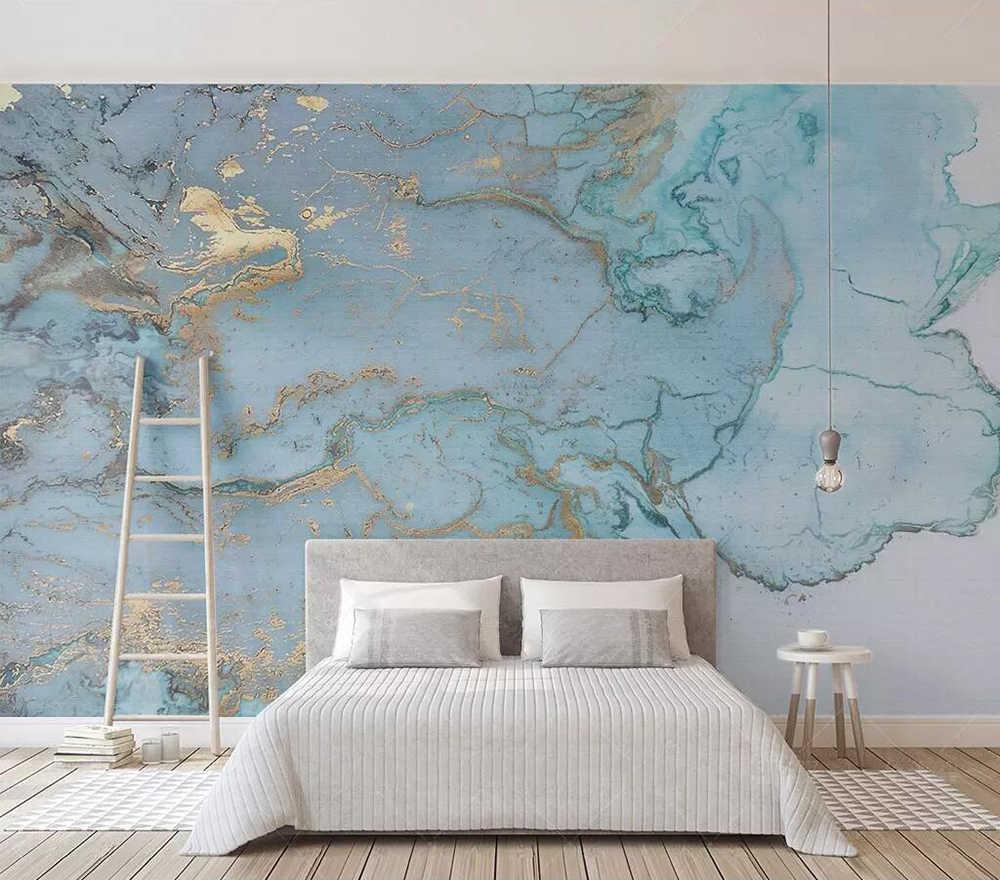На заказ обои простой ретро роскошный синий текстура ТВ фоновая стена