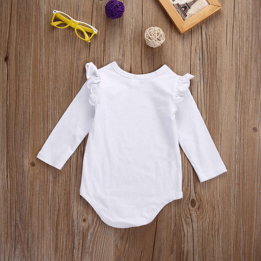 3c3d3a146b98 ... new fashion Newborn Baby Girl bodysuit long sleeve cartoon Jumpsuit  Bodysuit Outfit Set Clothes 0- ...